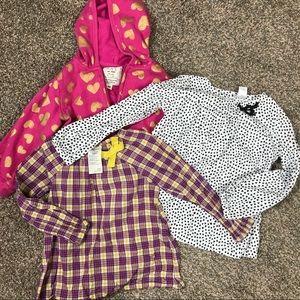 4T long sleeve: Carter's, OshKosh, Place hoodie